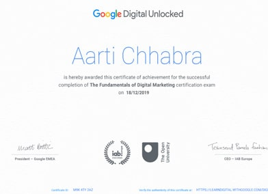 Hubspot Marketing Certificate