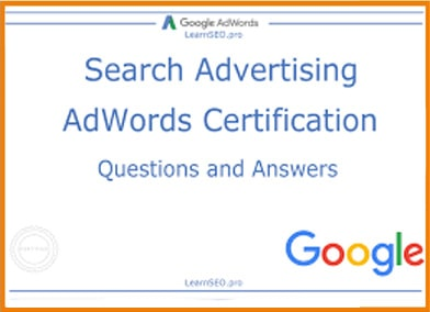 Search Advertisement Adwords Certification